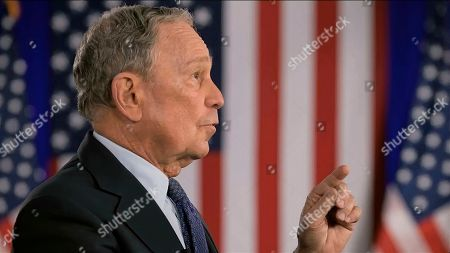 In this image from video, former New York City Mayor Michael Bloomberg speaks during the fourth night of the Democratic National Convention on Thursday, Aug. 20, 2020. (Democratic National Convention via AP)