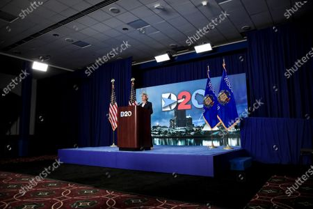 Sen. Tammy Baldwin, D-Wisc., speaks during the final night of the virtual 2020 Democratic National Convention, in Milwaukee, Wisc