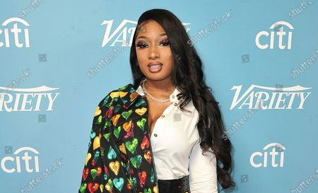 Stock Picture of Megan Thee Stallion attends Variety's Hitmakers Brunch in West Hollywood, Calif. In an Instagram Live video, hip-hop star Megan Thee Stallion said for the first time that fellow rapper Tory Lanez was the person who pulled the trigger when she was shot in the feet after a party in the Hollywood Hills more than a month earlier