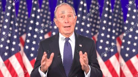 A framegrab from the Democratic National Convention Committee livestream showing Michael Bloomberg speaking during the final night of the 2020 Democratic National Convention (DNC) in Milwaukee, Wisconsin, USA, 20 August 2020. The convention, which was expected to draw 50,000 people to the city, is now taking place virtually due to coronavirus pandemic concerns.