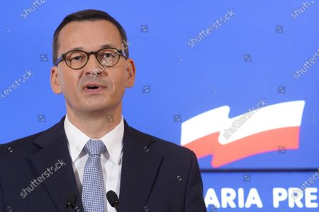 Editorial photo of Poland Warsaw Pm Press Conference - 20 Aug 2020