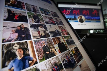 """Facebook pages from Guo Wengui's account are seen on computer screens in Beijing on . The self-exiled Chinese tycoon on whose 150-foot (45-meter) yacht President Donald Trump's former chief strategist, Steve Bannon, was arrested is a high-profile irritant to the ruling Communist Party. In June, Guo and Bannon announced the founding of the """"Federal State of New China,"""" an initiative to """"overthrow the Chinese government"""