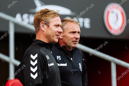 New Bristol City Head Coach Dean Holden and New assistant Head Coach Paul Simpson look on