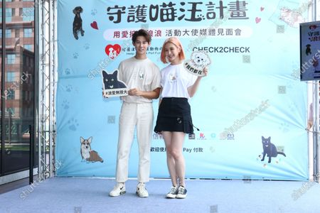 Amber An attends a stray animals salvation charity conference