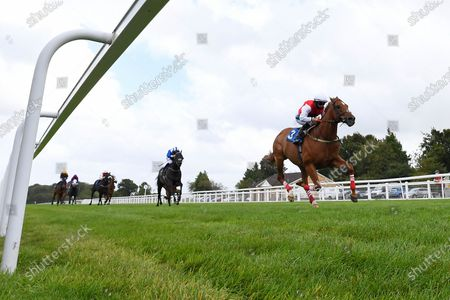 Winner of The Pitton Handicap Stakes Just Glamorous ridden by Nicola Currie and trained by Christopher Mason  during Horse Racing at Salisbury Racecourse on 21st August 2020