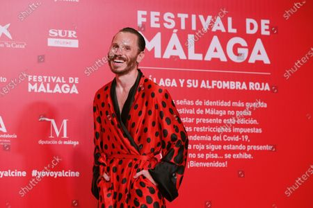 Ruben Ochandiano poses for photographers during the inauguration gala on the opening night of the 23rd Spanish Film Festival in Malaga, southern Spain, 21 August 2020. The festival was postponed due to coronavirus lockdown in March and is now running from 21 to 30 August 2020.