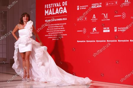 Candela Pena poses for photographers during the inauguration gala on the opening night of the 23rd Spanish Film Festival in Malaga, southern Spain, 21 August 2020. The festival was postponed due to coronavirus lockdown in March and is now running from 21 to 30 August 2020.
