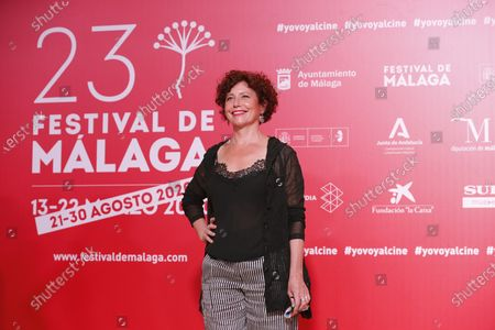 Stock Image of Iciar Bollain poses for photographers during the inauguration gala on the opening night of the 23rd Spanish Film Festival in Malaga, southern Spain, 21 August 2020. The festival was postponed due to coronavirus lockdown in March and is now running from 21 to 30 August 2020.