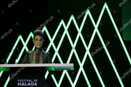 Ruth Gabriel attends the inauguration gala on the opening night of the 23rd Spanish Film Festival in Malaga, southern Spain, 21 August 2020. The festival was postponed due to coronavirus lockdown in March and is now running from 21 to 30 August 2020.