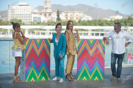 Candeña Peña, Paula Usero, Nathalie Poza and Sergi Lopez attend 'La Boda De Rosa' photocall