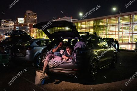 Editorial photo of Electric Dusk Drive-In, Electric Dusk Drive-in, Glendale, California, United States - 08 Aug 2020