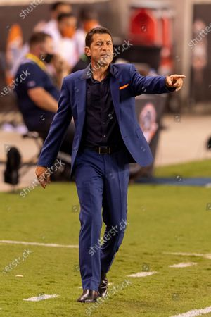 Houston Dynamo head coach Tab Ramos reacts to a call on the pitch during the second half against FC Dallas in Houston, Texas. Maria Lysaker / CSM