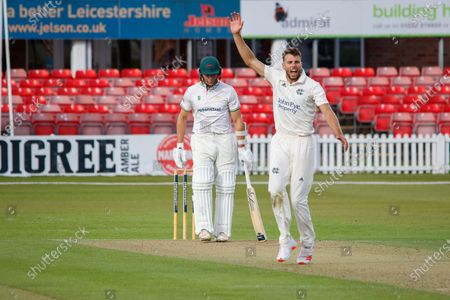 Stock Picture of WICKET - Tom Barber has Gavin Griffiths caught behind during the Bob Willis Trophy match between Leicestershire County Cricket Club and Nottinghamshire County Cricket Club at the Fischer County Ground, Grace Road, Leicester