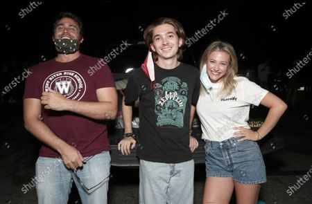 Stock Picture of Writer/Director/Producer Richard Tanner, Austin Abrams and Actor/Executive Producer Lili Reinhart attend Amazon Studios Special Screening of Chemical Hearts on Friday, August 21 at the Paramount Drive-In in Los Angeles.
