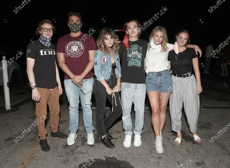 Stock Image of CJ Hoff, Writer/Director/Producer Richard Tanner, Sarah Jones, Austin Abrams and Actor/Executive Producer Lili Reinhart and Shannon Walsh attend Amazon Studios Special Screening of Chemical Hearts on Friday, August 21 at the Paramount Drive-In in Los Angeles.