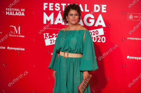 Stock Picture of Spanish actress Laura Baena attends the Malaga Film Festival at Miramar Hotel. The 23rd edition of the Spanish Malaga Film Festival is the first great cinematographic event in Spain after it was postponed due to coronavirus pandemic last month of March. The organization has introduced measures to prevent the spread for coronavirus and to guarantee a secure event. The festival will be held from 21 to 30 August.
