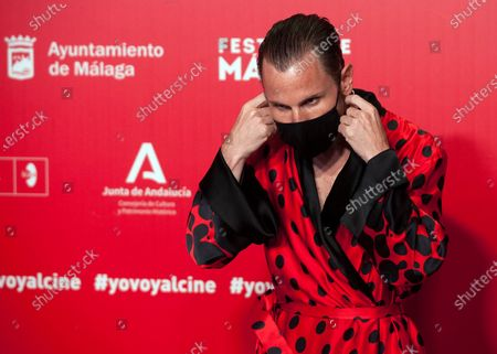Spanish actor Ruben Ochandiano seen wearing a facemask attends the Malaga Film Festival at Miramar Hotel. The 23rd edition of the Spanish Malaga Film Festival is the first great cinematographic event in Spain after it was postponed due to coronavirus pandemic last month of March. The organization has introduced measures to prevent the spread for coronavirus and to guarantee a secure event. The festival will be held from 21 to 30 August.