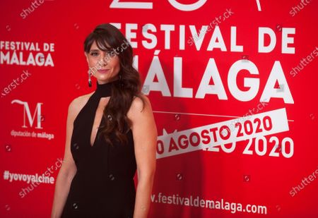 Stock Image of Spanish and Argentinian actress Maria Botto attends the Malaga Film Festival at Miramar Hotel. The 23rd edition of the Spanish Malaga Film Festival is the first great cinematographic event in Spain after it was postponed due to coronavirus pandemic last month of March. The organization has introduced measures to prevent the spread for coronavirus and to guarantee a secure event. The festival will be held from 21 to 30 August.