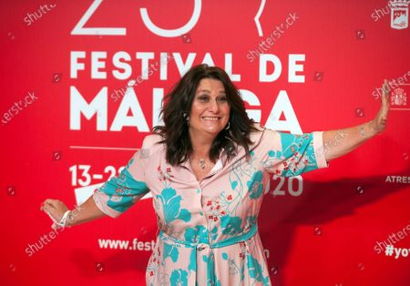 Stock Photo of Spanish actress Adelfa Calvo attends the Malaga Film Festival at Miramar Hotel. The 23rd edition of the Spanish Malaga Film Festival is the first great cinematographic event in Spain after it was postponed due to coronavirus pandemic last month of March. The organization has introduced measures to prevent the spread for coronavirus and to guarantee a secure event. The festival will be held from 21 to 30 August.