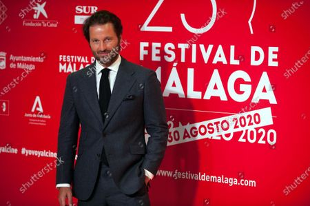 Stock Picture of Spanish actor Fernando Andina attends the Malaga Film Festival at Miramar Hotel. The 23rd edition of the Spanish Malaga Film Festival is the first great cinematographic event in Spain after it was postponed due to coronavirus pandemic last month of March. The organization has introduced measures to prevent the spread for coronavirus and to guarantee a secure event. The festival will be held from 21 to 30 August.