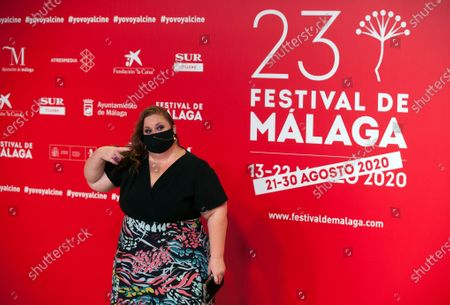 Spanish actress Itziar Castro seen wearing a facemask attends the Malaga Film Festival at Miramar Hotel. The 23rd edition of the Spanish Malaga Film Festival is the first great cinematographic event in Spain after it was postponed due to coronavirus pandemic last month of March. The organization has introduced measures to prevent the spread for coronavirus and to guarantee a secure event. The festival will be held from 21 to 30 August.