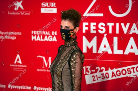 Spanish actress Ruth Gabriel seen wearing a facemask attends the Malaga Film Festival at Miramar Hotel. The 23rd edition of the Spanish Malaga Film Festival is the first great cinematographic event in Spain after it was postponed due to coronavirus pandemic last month of March. The organization has introduced measures to prevent the spread for coronavirus and to guarantee a secure event. The festival will be held from 21 to 30 August.