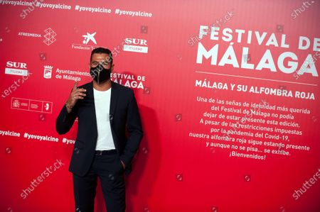 Spanish actor Antonio Velazquez seen wearing a facemask attends the Malaga Film Festival at Miramar Hotel. The 23rd edition of the Spanish Malaga Film Festival is the first great cinematographic event in Spain after it was postponed due to coronavirus pandemic last month of March. The organization has introduced measures to prevent the spread for coronavirus and to guarantee a secure event. The festival will be held from 21 to 30 August.