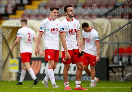 Bohemians vs St. Patrick's Athletic. St Patrick's Athletic's Robbie Benson dejected at the final whistle