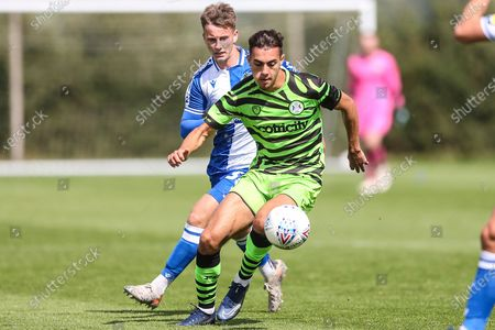 Stock Photo of Forest Green Rovers Taylor Allen(12) during the Pre-Season Friendly match between Forest Green Rovers and Bristol Rovers at Stanley Park, Chippenham