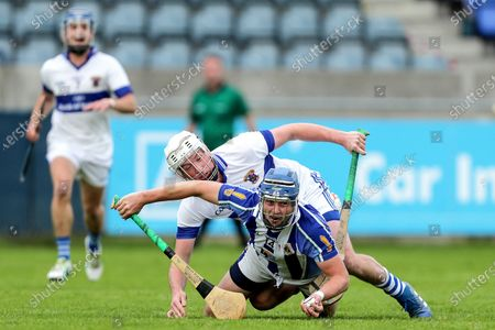 Stock Picture of St. Vincent's vs Ballyboden St. Enda's. Ballyboden St. Enda's Paul Doherty and Mark O'Farrell of St. Vincent's