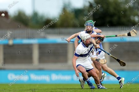 Stock Picture of St. Vincent's vs Ballyboden St. Enda's. St. Vincent's Mark O'Farrell and Conor Burke with Conal Keaney and James Madden of the Ballyboden St. Enda's