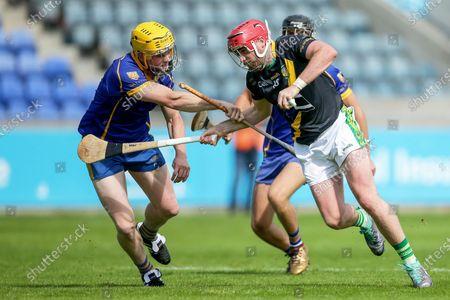 Na Fianna vs Faughs. Faughs' Ciaran Brennan and Hugh Fenlon of Na Fianna