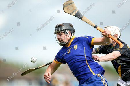 Stock Image of Na Fianna vs Faughs. Na Fianna's Donal Burke and Stephen Casey of Faughs