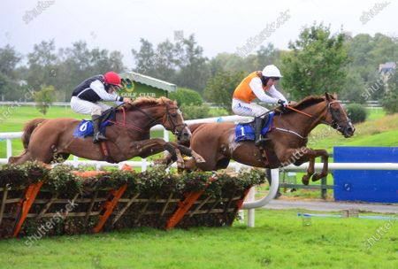 KILLARNEY 22-August-2020 DECOR IRLANDAIS and Noel McParlan (far side) win for owner John Devine and trainer Noel Kelly from WILLIAM OF WYKEHAM (Philip Enright) (near).