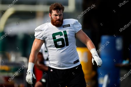 New York Jets center James Murray (61) during a practice at the NFL football team's training camp in Florham Park, N.J