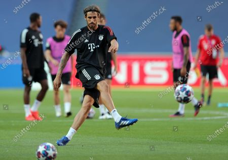 Javier Martinez during a training session of Bayern Munich in Lisbon, Portugal, 22 August 2020. PSG will face Bayern Munich in the UEFA Champions League final on 23 August.