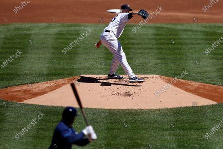 Editorial image of Rays Yankees Baseball, New York, United States - 20 Aug 2020