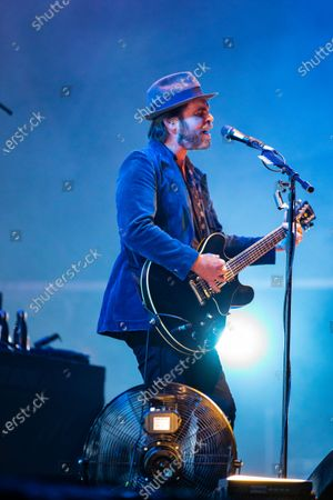 Stock Photo of Gaz Coombes - Supergrass at the Virgin Money Utility Arena
