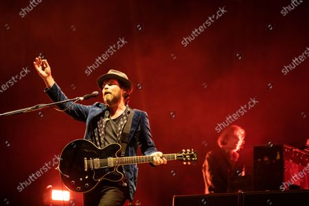 Stock Picture of Gaz Coombes - Supergrass at the Virgin Money Utility Arena