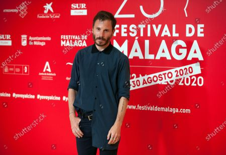 Stock Picture of Spanish actor Ruben Ochandiano attends the Malaga Film Festival at Miramar Hotel. The 23rd edition of the Spanish Malaga Film Festival is the first great cinematographic event in Spain after it was postponed due to coronavirus pandemic last month of March. The organization has introduced measures to prevent the spread for coronavirus and to guarantee a secure event. The festival will be held from 21 to 30 August.
