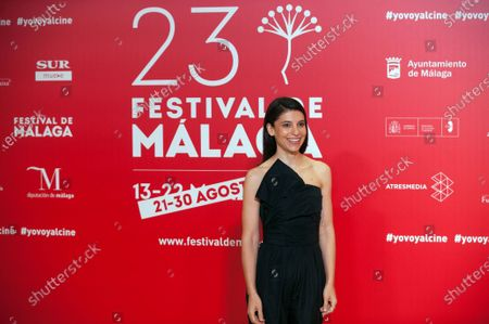Spanish actress Irene Visedo attends the Malaga Film Festival at Miramar Hotel. The 23rd edition of the Spanish Malaga Film Festival is the first great cinematographic event in Spain after it was postponed due to coronavirus pandemic last month of March. The organization has introduced measures to prevent the spread for coronavirus and to guarantee a secure event. The festival will be held from 21 to 30 August.