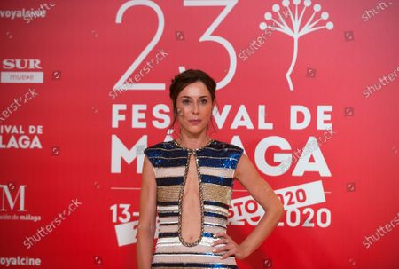 Stock Image of Spanish actress Ruth Diaz attends the Malaga Film Festival at Miramar Hotel. The 23rd edition of the Spanish Malaga Film Festival is the first great cinematographic event in Spain after it was postponed due to coronavirus pandemic last month of March. The organization has introduced measures to prevent the spread for coronavirus and to guarantee a secure event. The festival will be held from 21 to 30 August.