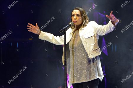 Stock Photo of Luz Casal performs during a concert held as part of Starlite Music Festival in Marbella, Costa del Sol, southern Spain, late 22 August 2020 (issued on 23 August 2020). Starlite Festival runs until 29 August.