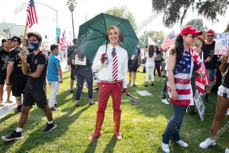 Editorial picture of Trump Supporters and Counter-Protest, Beverly Hills, Los Angeles, California, USA - 22 Aug 2020