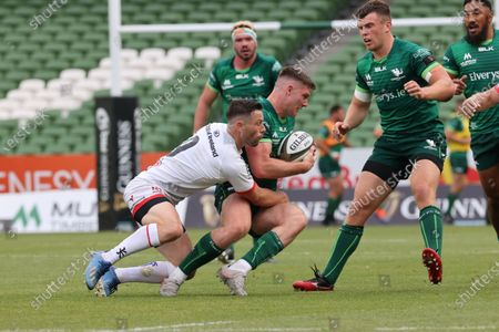 Connacht vs Ulster. Connacht's Peter Sullivan is tackled by John Cooney of Ulster