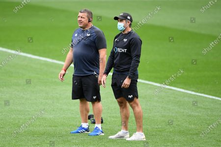 Stock Picture of Ospreys head coach Toby Booth and Brok James.