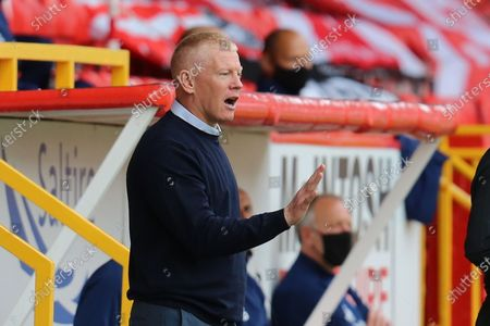 Livingston Manager Gary Holt during the Scottish Premiership match between Aberdeen and Livingston at Pittodrie Stadium, Aberdeen