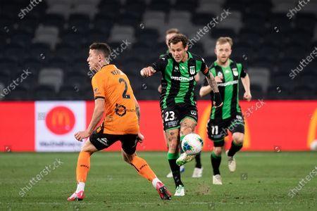 Western United midfielder Alessandro Diamanti (23) kicks the ball