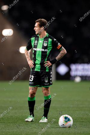 Western United midfielder Alessandro Diamanti (23) waits to take a free kick