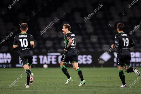 Western United midfielder Alessandro Diamanti (23) celebrates his goal
